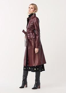 Diane Von Furstenberg Helga Leather Trench Coat