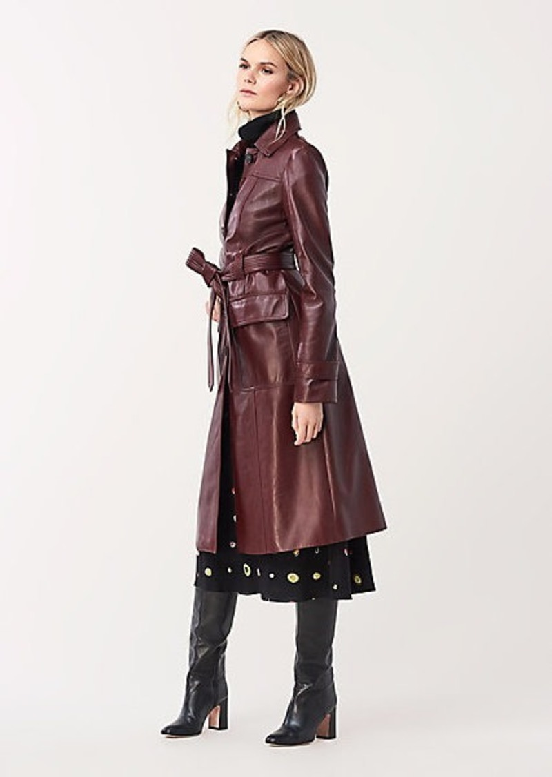 Diane Von Furstenberg Helga Leather Trench Coat