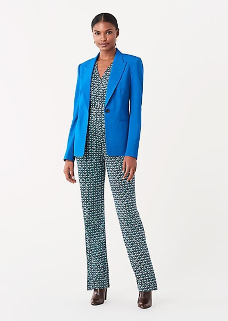 Diane Von Furstenberg Heller Stretch Wool Blazer