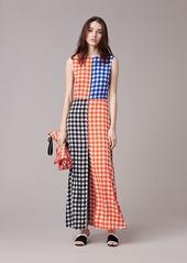 Diane Von Furstenberg High Neck Flare Dress