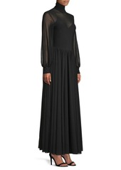 Diane Von Furstenberg High Neck Maxi Dress