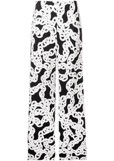Diane Von Furstenberg high-waist chain print trousers