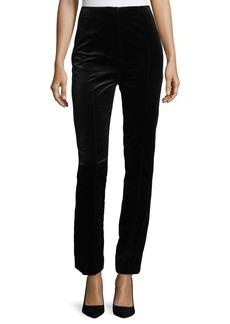 Diane Von Furstenberg High-Waist Skinny-Leg Velvet Pants