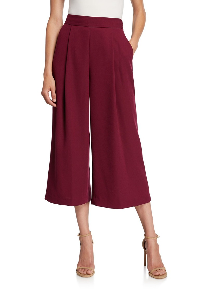 Diane Von Furstenberg Holly Pleated Cropped Pants