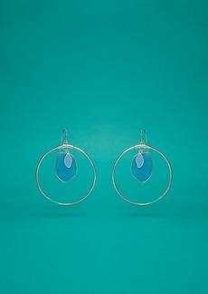 Diane Von Furstenberg Hoop Stone Earrings