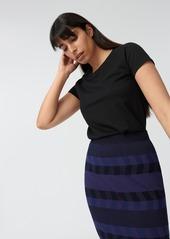 Diane Von Furstenberg Hope Cotton T-Shirt in Black