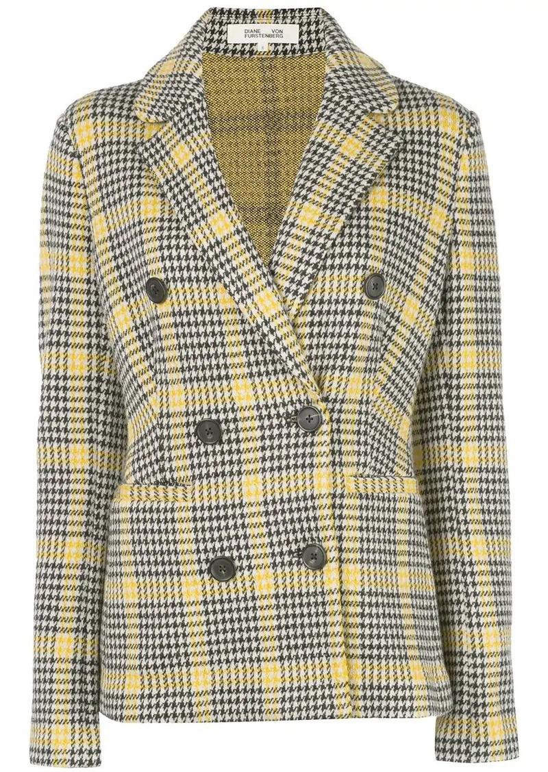 Diane Von Furstenberg Peria tartan blazer