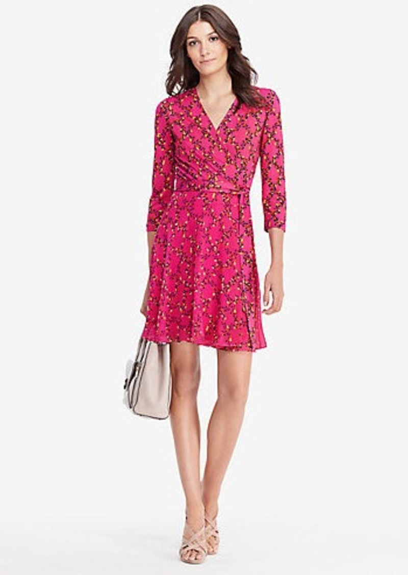 Irina Silk And Chiffon Combo Wrap Dress Diane Von Furstenberg