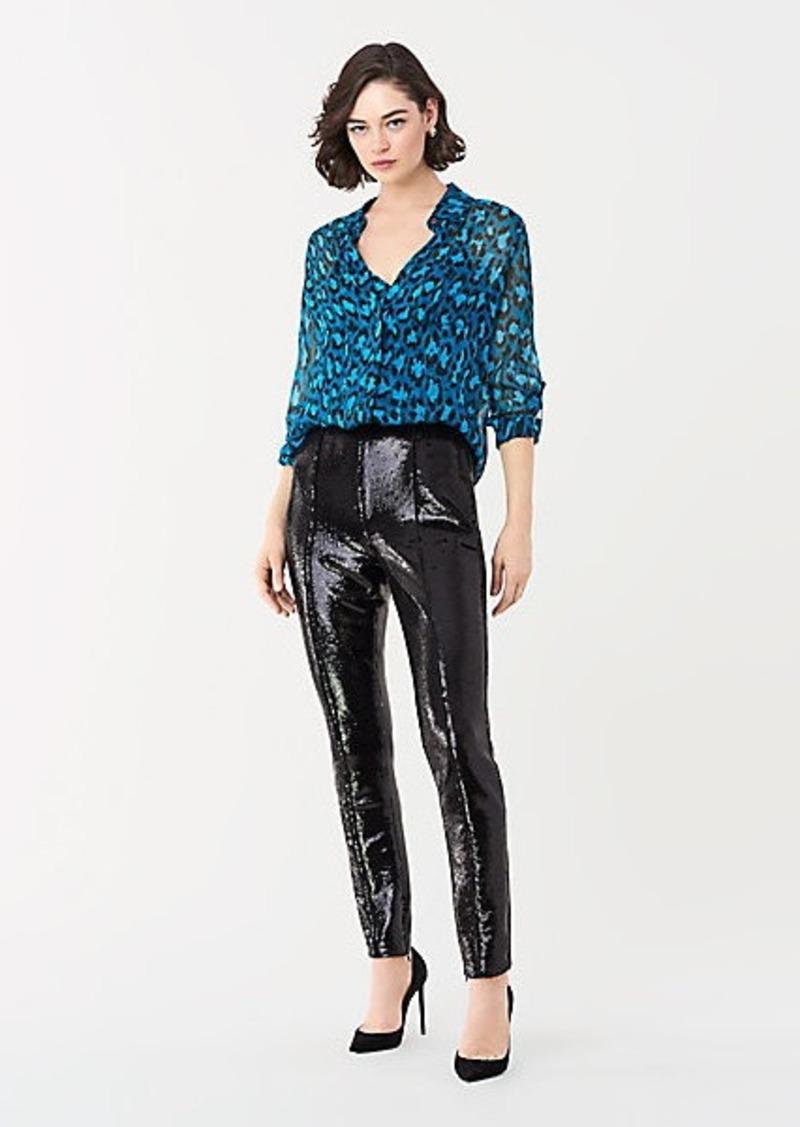 Diane Von Furstenberg Jackie Sequin Skinny Pants