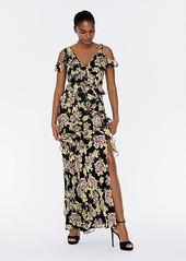 Diane Von Furstenberg Jada Ruffled Chiffon Faux-Wrap Gown