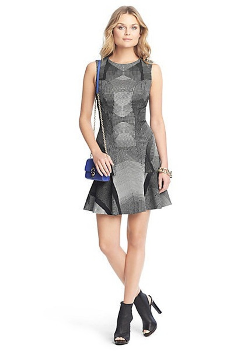 Diane Von Furstenberg Jaelyn Sleeveless Flared Knit Dress