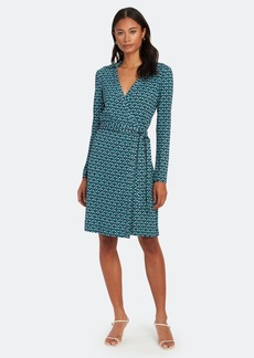 Diane Von Furstenberg Jeanne Two Silk Jersey Wrap Midi Dress
