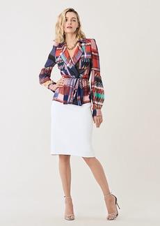 Diane Von Furstenberg Joanna Silk Chiffon Drawstring Shirt