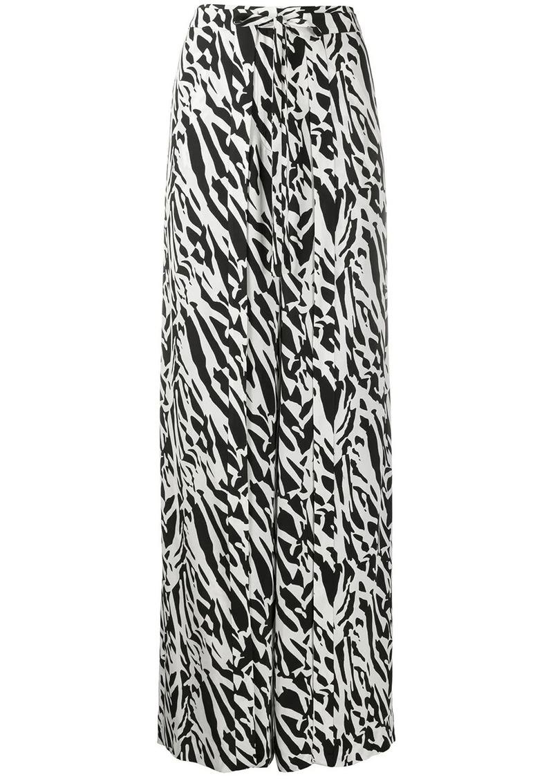 Diane Von Furstenberg Jenette tiger print palazzo pants