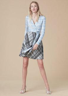 Jersey Combo Wrap Dress