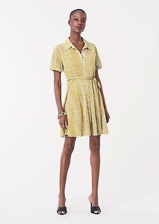 Diane Von Furstenberg Jett Jersey Mini Shirt Dress