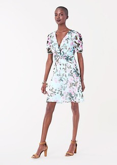 Diane Von Furstenberg Jillian Silk-Chiffon Mini Dress