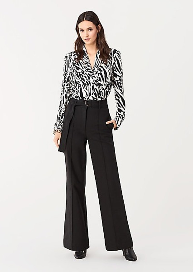 Diane Von Furstenberg Joan Stretch Wide-Leg Pants