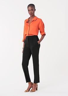 Diane Von Furstenberg Jocelyn Stretch-Crepe Cropped Pants