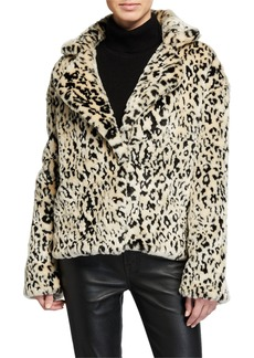 Diane Von Furstenberg Jordan Leopard-Print Faux-Fur Coat