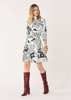 Diane Von Furstenberg Shia Crepe Wrap Dress
