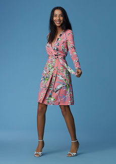 Julian Banded Long-Sleeve Wrap Dress