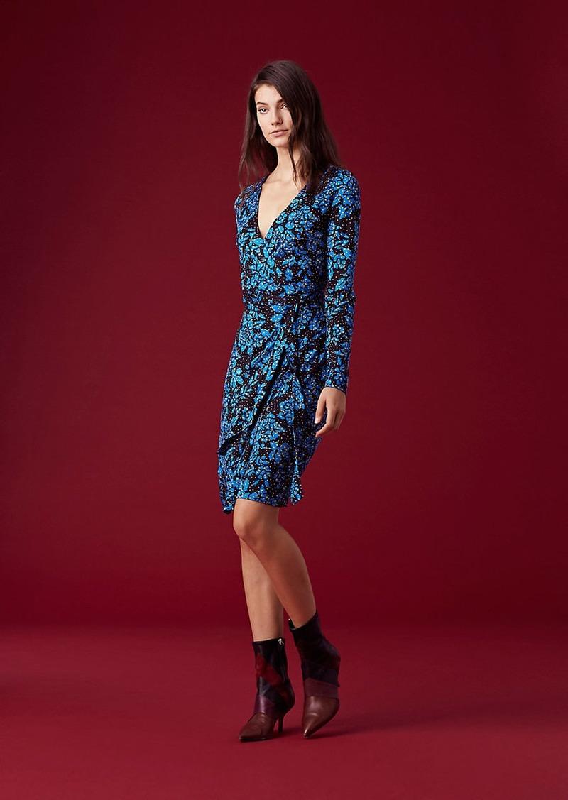 a18c5fee811 Diane Von Furstenberg Julian Banded Silk Jersey Wrap Dress Now $280.80
