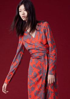 Julian Banded Silk Jersey Wrap Dress
