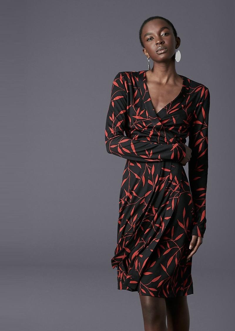 Diane Von Furstenberg Julian Banded Silk Jersey Wrap Dress
