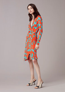 Julian Banded Silk Jersey Wrap Dress