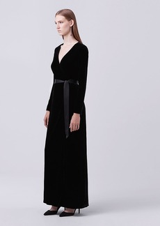 Julian Long Velvet Wrap Dress