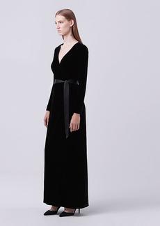 Julian Long Velvet Wrap Dress