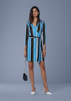 Julian Silk Jersey Mini Wrap Dress