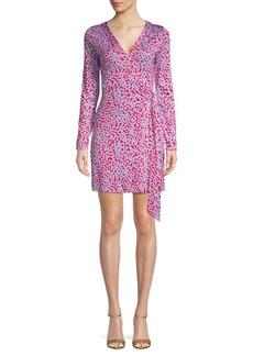 Diane Von Furstenberg Julian Silk Long-Sleeve Wrap Dress
