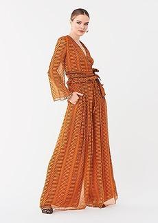 Diane Von Furstenberg Julietta Crinkle Chiffon Wrap Top