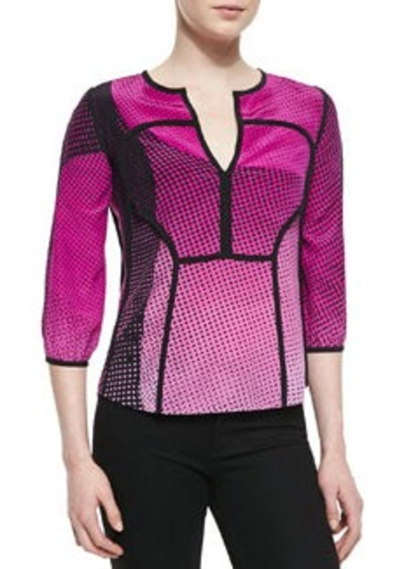 Diane Von Furstenberg Kaia Speckle Weave Print Top   Kaia Speckle Weave Print Top
