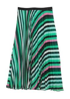 Diane Von Furstenberg Kalina Striped Pleated Skirt