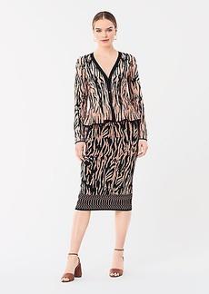 Diane Von Furstenberg Kamirah Fitted Knit Skirt