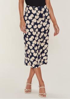 Diane Von Furstenberg Kara High Rise Midi Skirt