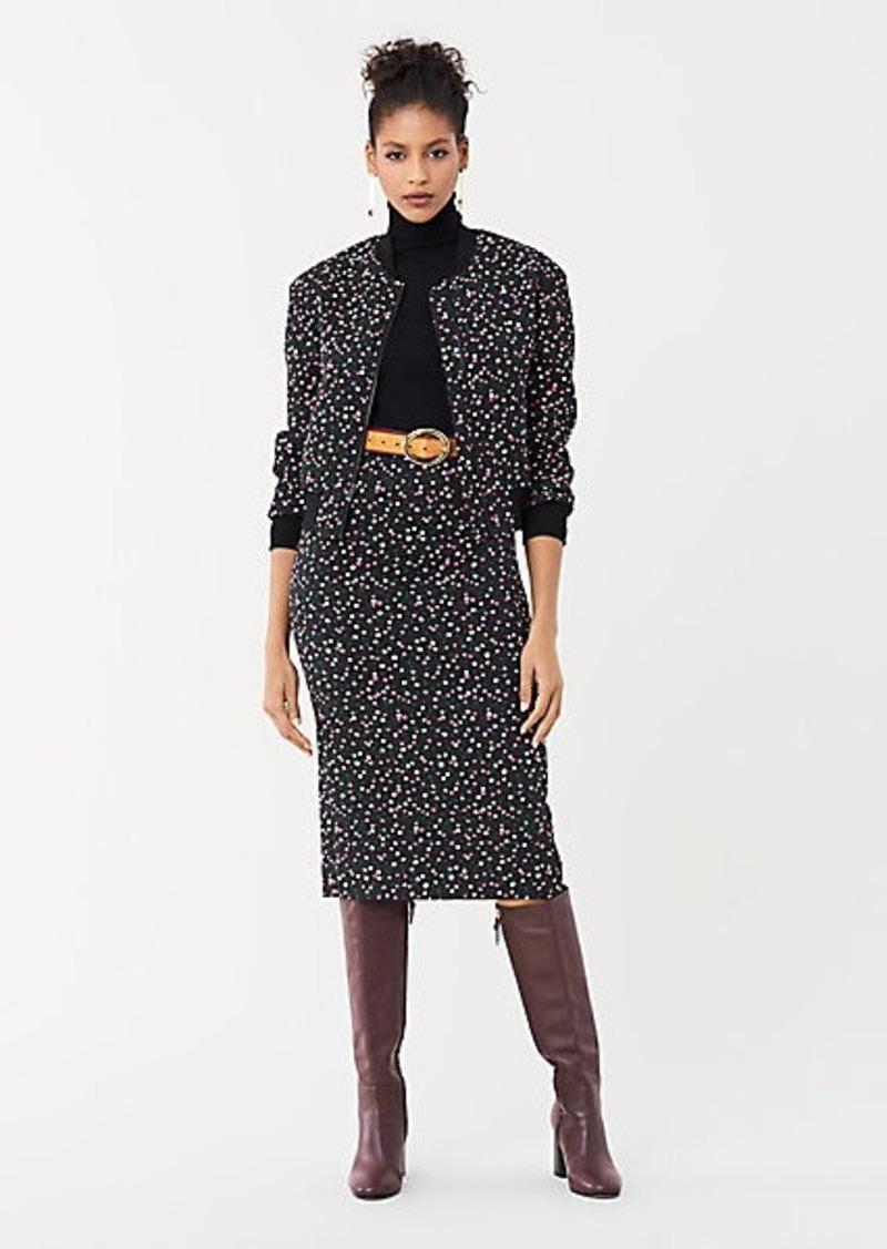 Diane Von Furstenberg Kara Stretch Jacquard Pencil Skirt