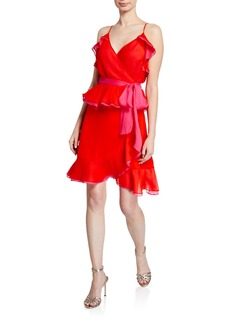 Diane Von Furstenberg Karla Sleeveless Ruffle Wrap Dress