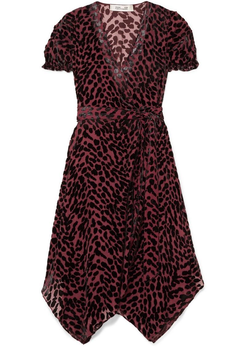 Diane Von Furstenberg Katherine Asymmetric Devoré-chiffon Wrap Dress