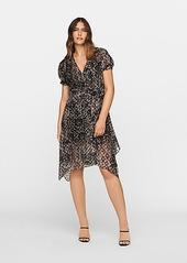 Diane Von Furstenberg Katherine Velvet Burnout Wrap Dress