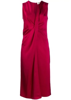 Diane Von Furstenberg Katrita satin draped dress