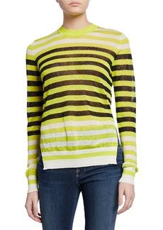 Diane Von Furstenberg Kayla Striped Crewneck Sweater