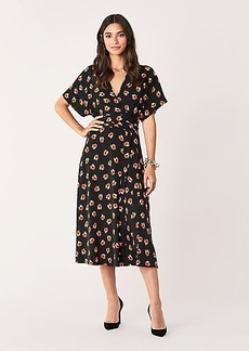 Diane Von Furstenberg Kelsey Stretch Georgette Midi Dress