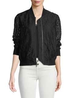 Kennadie Lace Bomber Jacket
