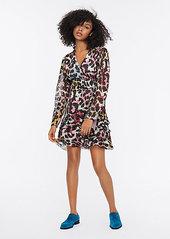 Diane Von Furstenberg Keyla Jacquard Mini Wrap Dress