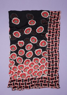 Diane Von Furstenberg Kimono Blossom Mod Viscose Scarf