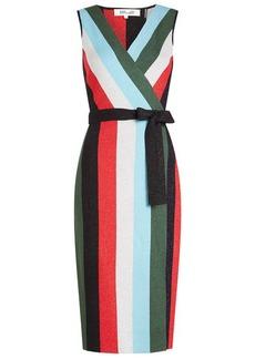 Diane Von Furstenberg Knit Wrap Dress with Wool